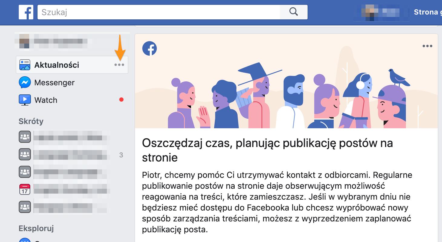 Jak znaleźć ustawienia tablicy naFacebooku